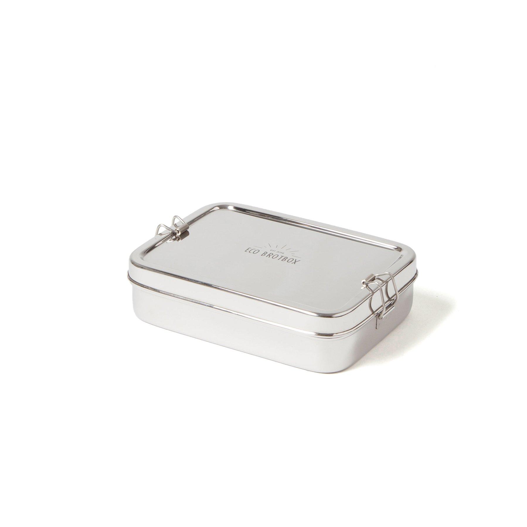 brotbox xl rechteckiger einlagiger behälter mit separater snackbox inkl. deckel